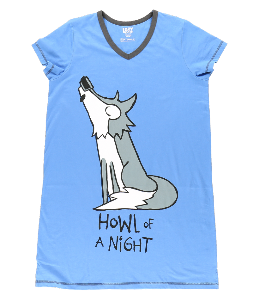 Howl of a Night | Women's Nightshirts | Lazy One®
